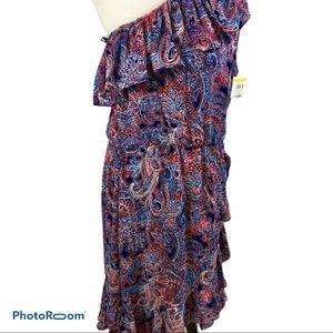 NWT Parker One Shoulder Paisley print dress